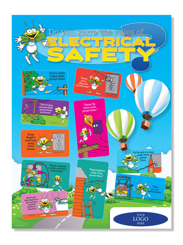 LED Louie Electrical Safety Poster With Logo (6690)