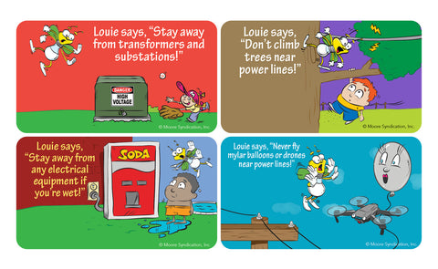 Louie Safety Stickers A, B, C and D (1575, 1576, 1577, 1578)