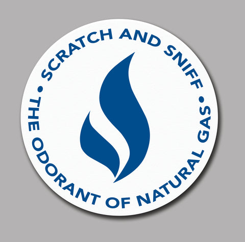 Natural Gas Scratch and Sniff Sticker, Roll of 1000 (4310)