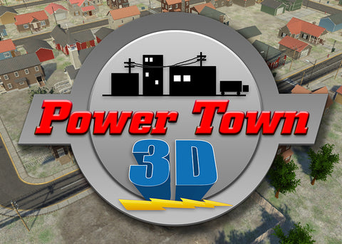 PowerTown 3D Logo computer safety training program