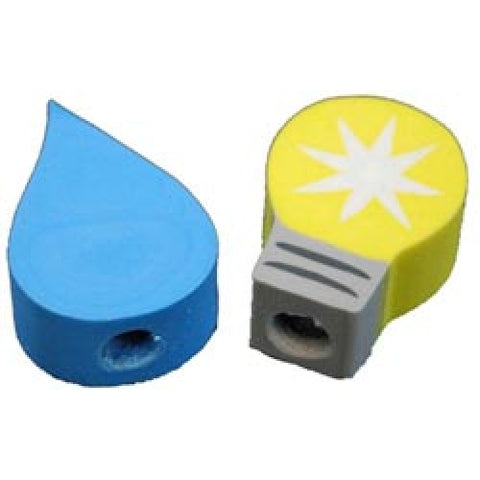 Light Bulb/Blue Flame Pencil Topper Erasers - pack of 144 (4000, 4001)