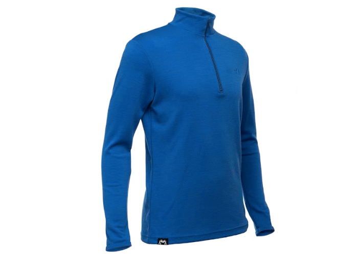 TRUE FLEECE MEN'S MERINO WOOL 300 COAST QUARTER ZIP PULLOVER - ROYAL