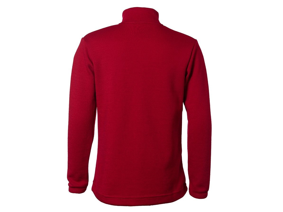 True Fleece Kids' merino wool 300 Coast quarter zip pullover - Chilli Red