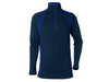 True Fleece Men's Merino 300 Hilltop quarter zip pullover - Navy & Indigo