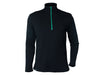 True Fleece Men's merino wool 300 Coast quarter zip pullover - Black & Green
