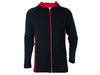 True Fleece Men's Merino 300 Akaroa Hoodie - Black & Red