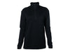 True Fleece Women's merino wool 300 Coast quarter zip pullover - Black