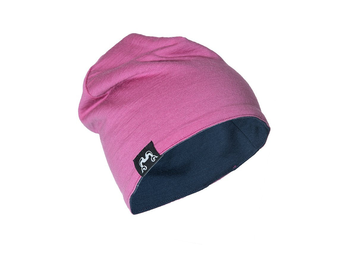 True Fleece Merino kids' beanie - Pink/Navy