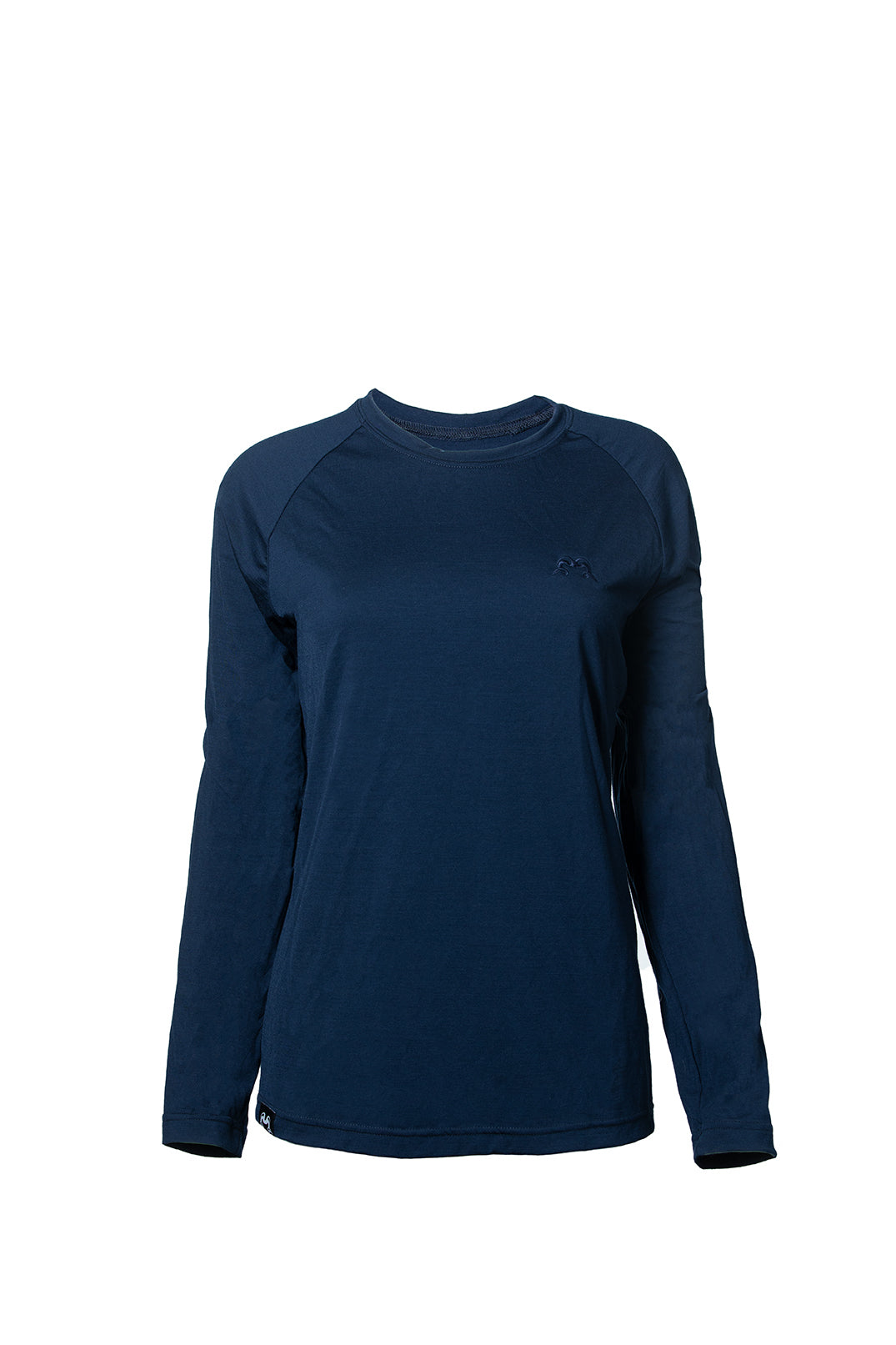 True Fleece Women's merino wool 200 long sleeve base layer top - Navy/Pink