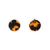 Medium Flat Round Stud Earrings