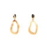 Glossy Marble Drop Earrings