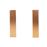Minimalist Golden Vertical Earrings