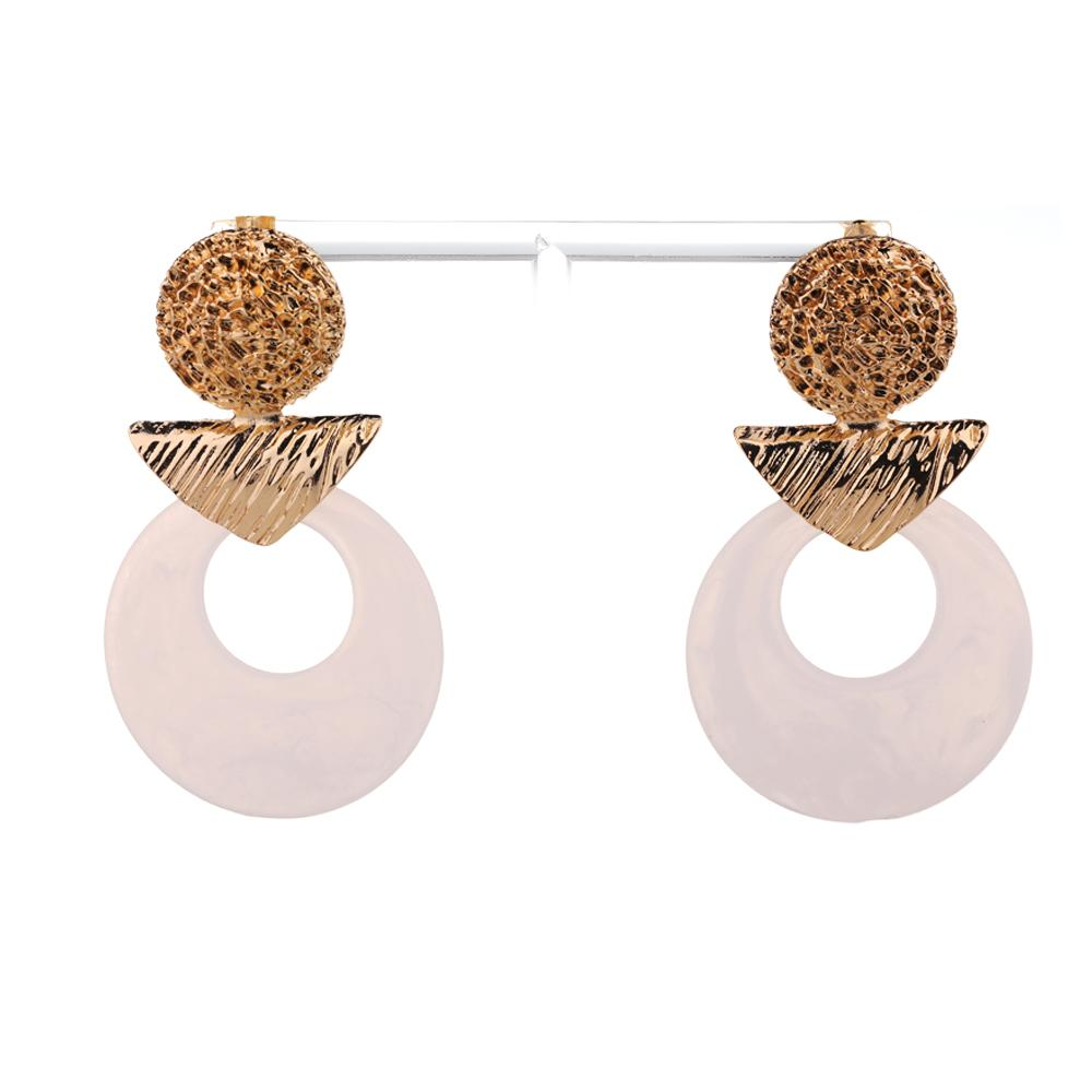Striking White Ornament Drop Earrings