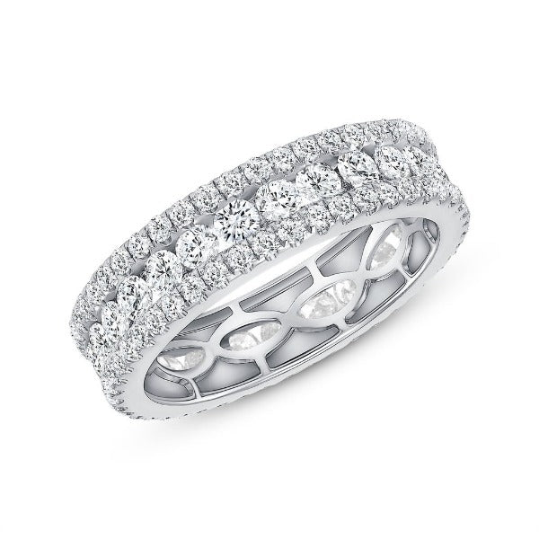2.48 CT. T.W. Diamond Round Cut Eternity Band in 18K White Gold