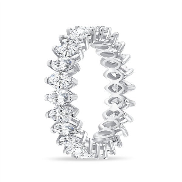 4.25 CT. T.W. Diamond Marquise Cut Eternity Band in 18K White Gold