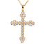 1-1/5 CT. T.W. Diamond Cross Pendant in 14K Yellow Gold