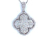 1/2 CT. T.W. Composite Diamond Flower Pendant in 14K White Gold