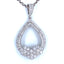 3/8 CT. T.W. Diamond Teardrop Pendant in 14K White Gold