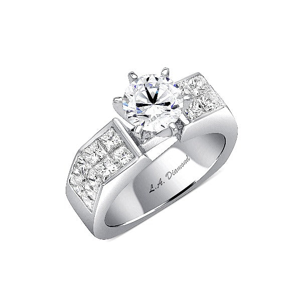 1-1/4 CT. T.W. Diamond Engagement Ring in 14K White Gold - LA DIAMOND