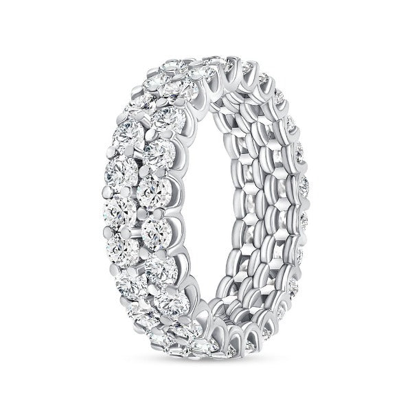 3.44 CT. T.W. Diamond Round Cut Eternity Band in 18K White Gold
