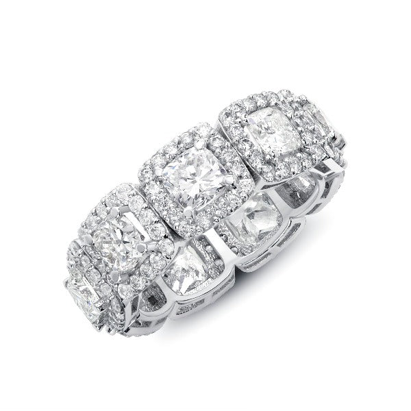 2 CT. T.W. Princess-Cut Diamond Eternity Wedding Band in 14K White Gold