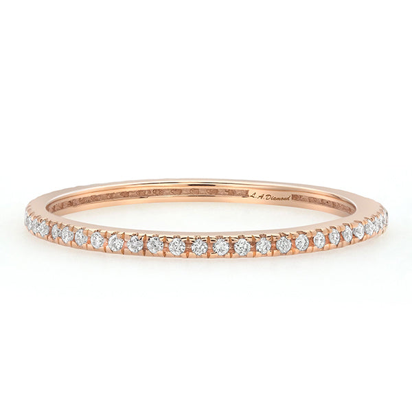 1/2 CT. T.W. Diamond Eternity Band in 14K Rose Gold - LA DIAMOND