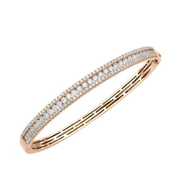 1/10 CT. T.W. Diamond Bracelet in 14K Rose Gold