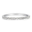 1 CT. T.W. Diamond Vintage-Style Eternity Band in 14K White Gold