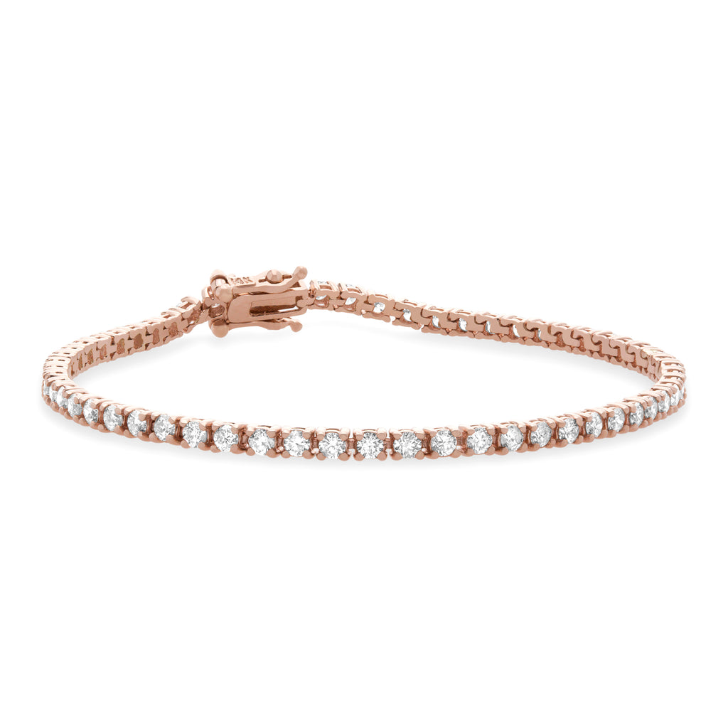 1 CT. T.W. Diamond Tennis Bracelet in 14K Rose Gold