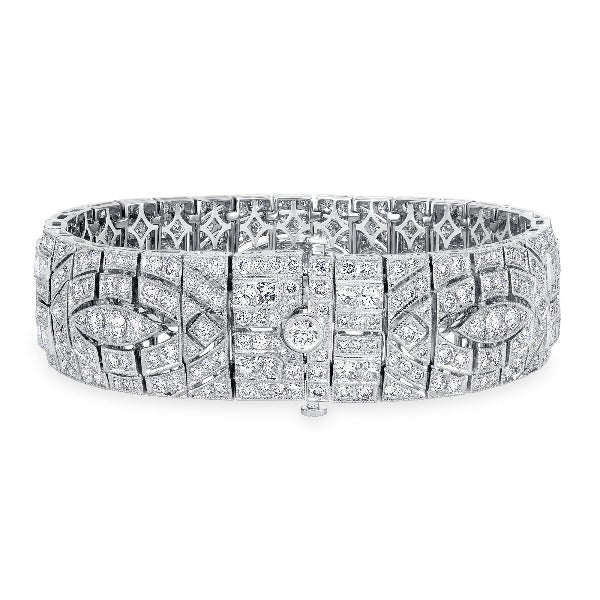 3 CT. T.W. Diamond Bracelet in 14K White Gold - LA DIAMOND