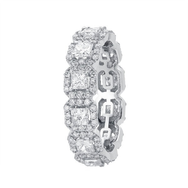 3 CT. T.W. Princess-Cut Diamond Wedding Band in Platinum