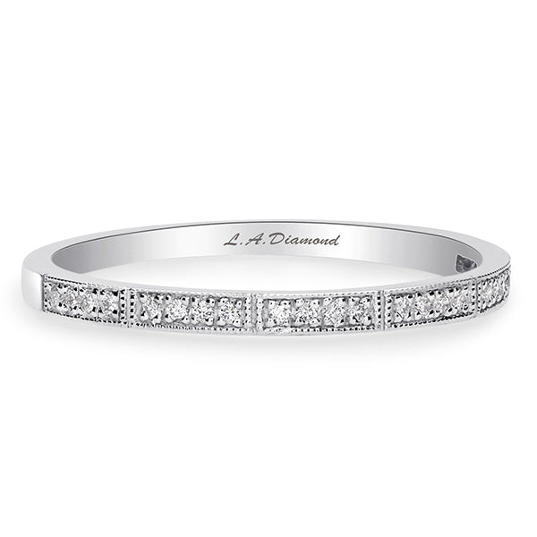 1/4 CT. T.W. Diamond Eternity Band in 14K White Gold - LA DIAMOND
