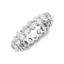 4.48 CT. T.W. Diamond Oval Cut Eternity Band in 18K White Gold