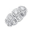 4.5 CT. T.W. Diamond Round Cut Halo Eternity Band in 18K White Gold