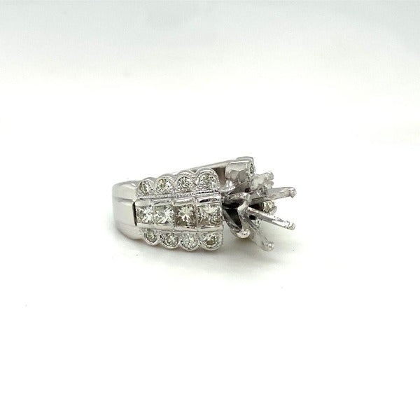 2.25 CT. T.W. Composite Round Diamond Frame Multi-Row Ring In White Gold - LA DIAMOND