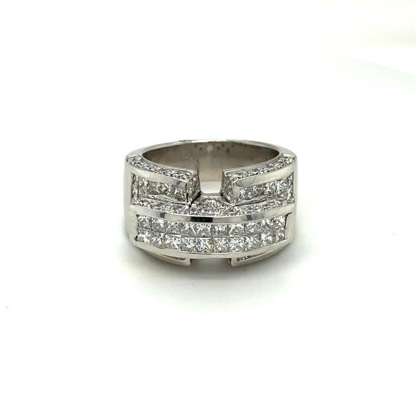 3.60 CT. T.W. Diamond Composite Engagement Ring in White Gold - LA DIAMOND
