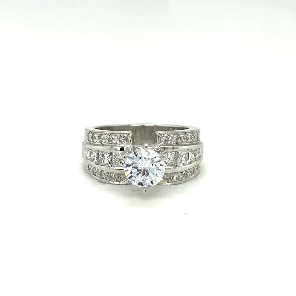 1.20 CT. T.W. Diamond Ring In White Gold - LA DIAMOND