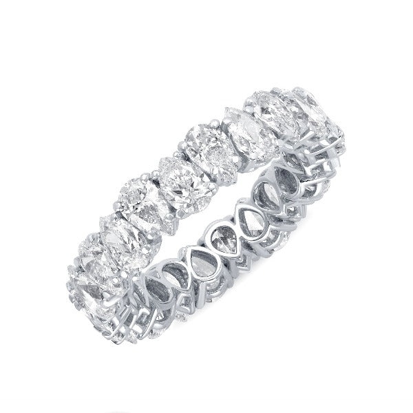 1 CT. T.W. Diamond Pear Diamond Band in 14K White Gold