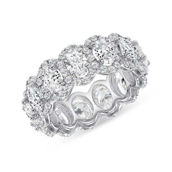 1.15 CT. T.W. Diamond Eternity Band in 18K White Gold - LA DIAMOND