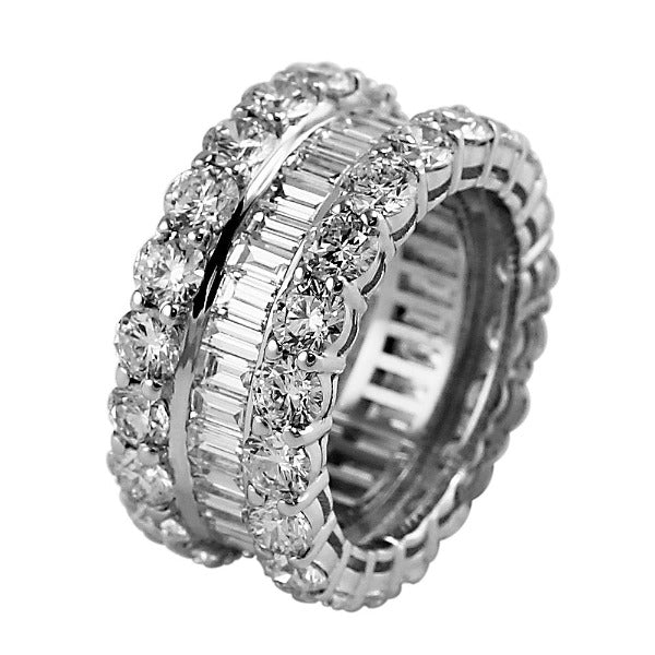 3 CT. T.W. Emerald-Cut Diamond Eternity Band in 14K White Gold