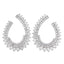 3/4 CT. T.W. Diamond Scatter Circle Earrings in 14K White Gold