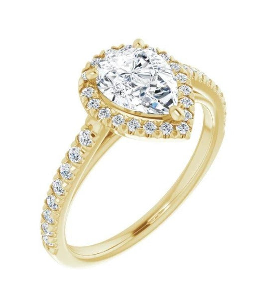 1.2 CT. T.W. Oval-Cut Diamond Engagement Ring in 14K Yellow Gold - LA DIAMOND