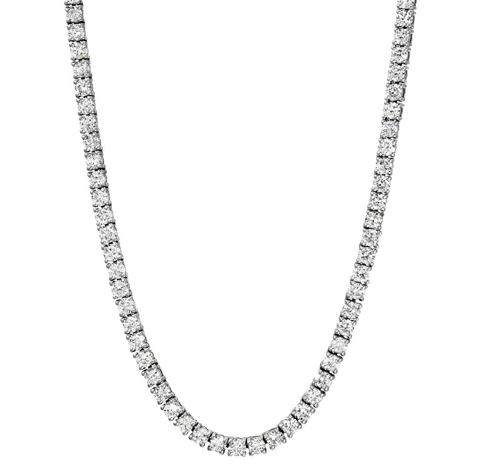 4 Prong Diamond Tennis Necklace - LA DIAMOND