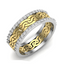 1/8 CT. T.W. Diamond Twist Vintage-Style Band in 14K Yellow and White Gold