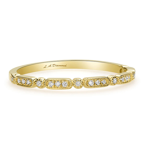 1 CT. T.W. Diamond Vintage-Style Eternity Band in 14K Yellow Gold