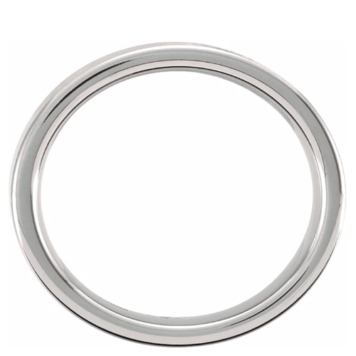 Tungsten Flat Satin Band