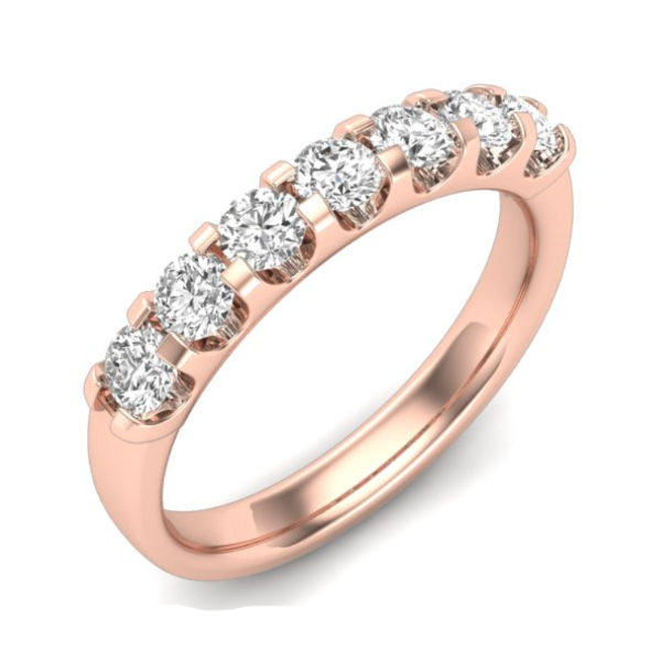 1/4 CT. T.W. Diamond Seven Stone Anniversary Band in 14K Rose Gold