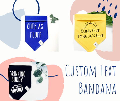 Custom Phrase dog bandana