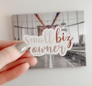 Small Biz Owner Vinyl Waterproof Sticker