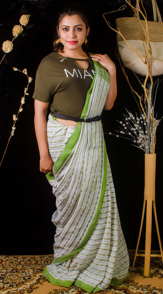 Full body fish work saree